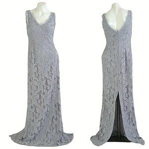 Adrianna Papell Lace Sleeveless Sheath Maxi Gown